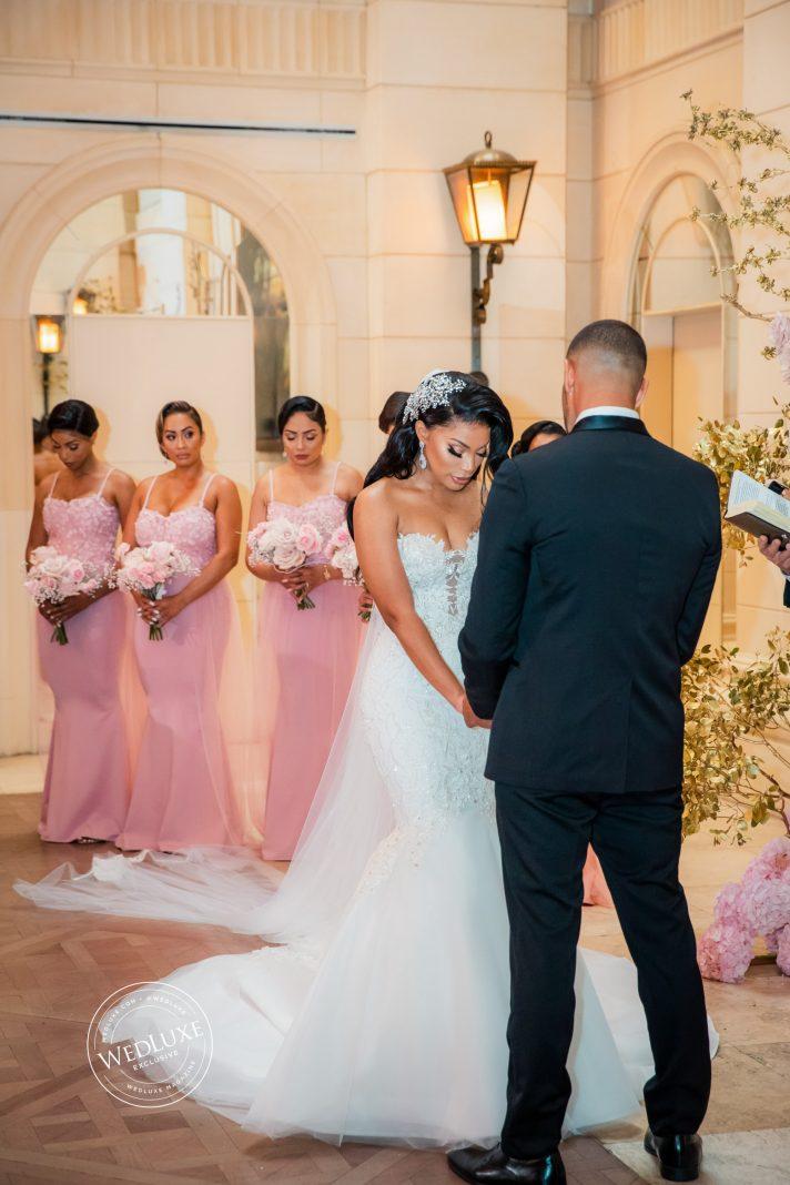Beautiful bride in Loren dress
